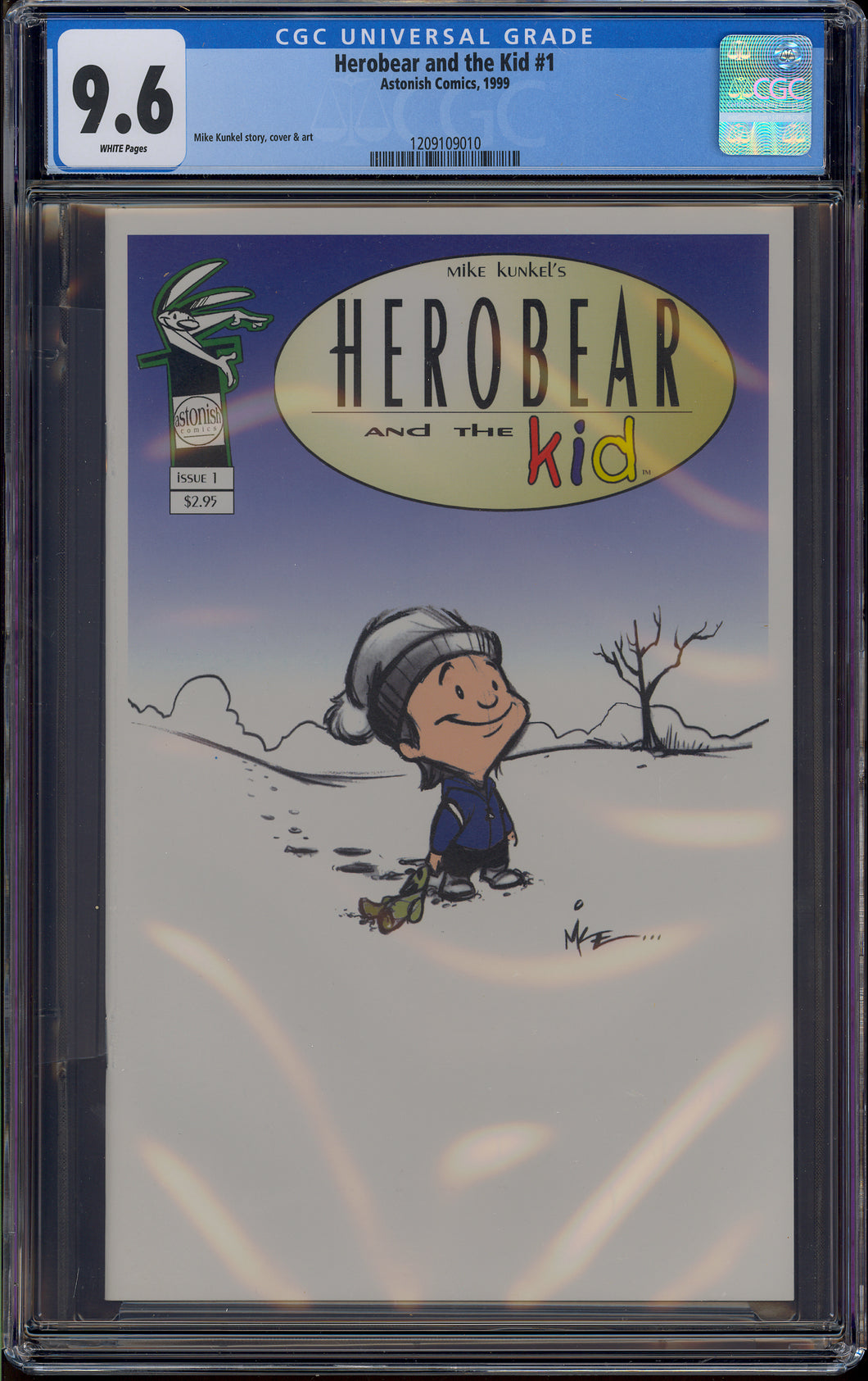 HEROBEAR AND THE KID #1 (1999 Astonish Comics) CGC GRADED 9.6 NM+ WHITE PAGES