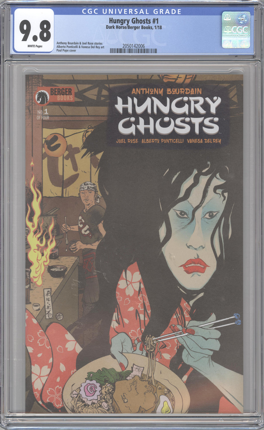 HUNGRY GHOSTS #1 (2018 Dark Horse/Berger) CGC GRADED 9.8 NM/M Anthony Bourdain