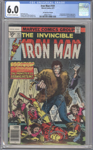 IRON MAN #101 CGC 6.0 FINE RARE MARVEL 35 CENT COVER PRICE VARIANT 1977