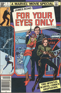 JAMES BOND 007: FOR YOUR EYES ONLY (1981 Marvel) COMPLETE SET Movie Adaptation