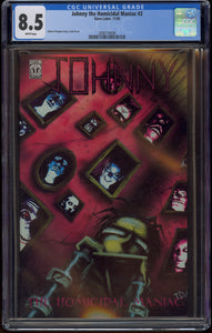JOHNNY THE HOMICIDAL MANIAC #2 (1995 Slave Labor Graphics) CGC GRADED 8.5 VF+ WHITE PAGES Jhonen Vasquez