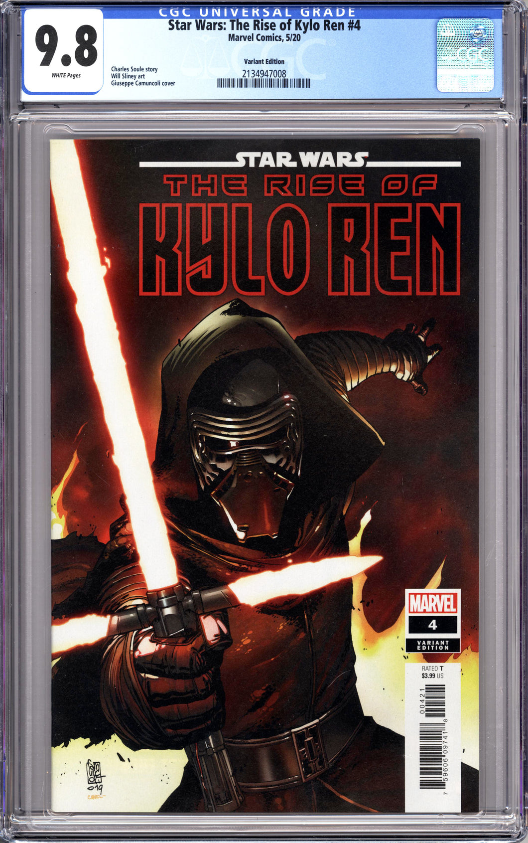 STAR WARS RISE OF KYLO REN #4 (2020 Marvel) CGC 9.8 NM/M Variant