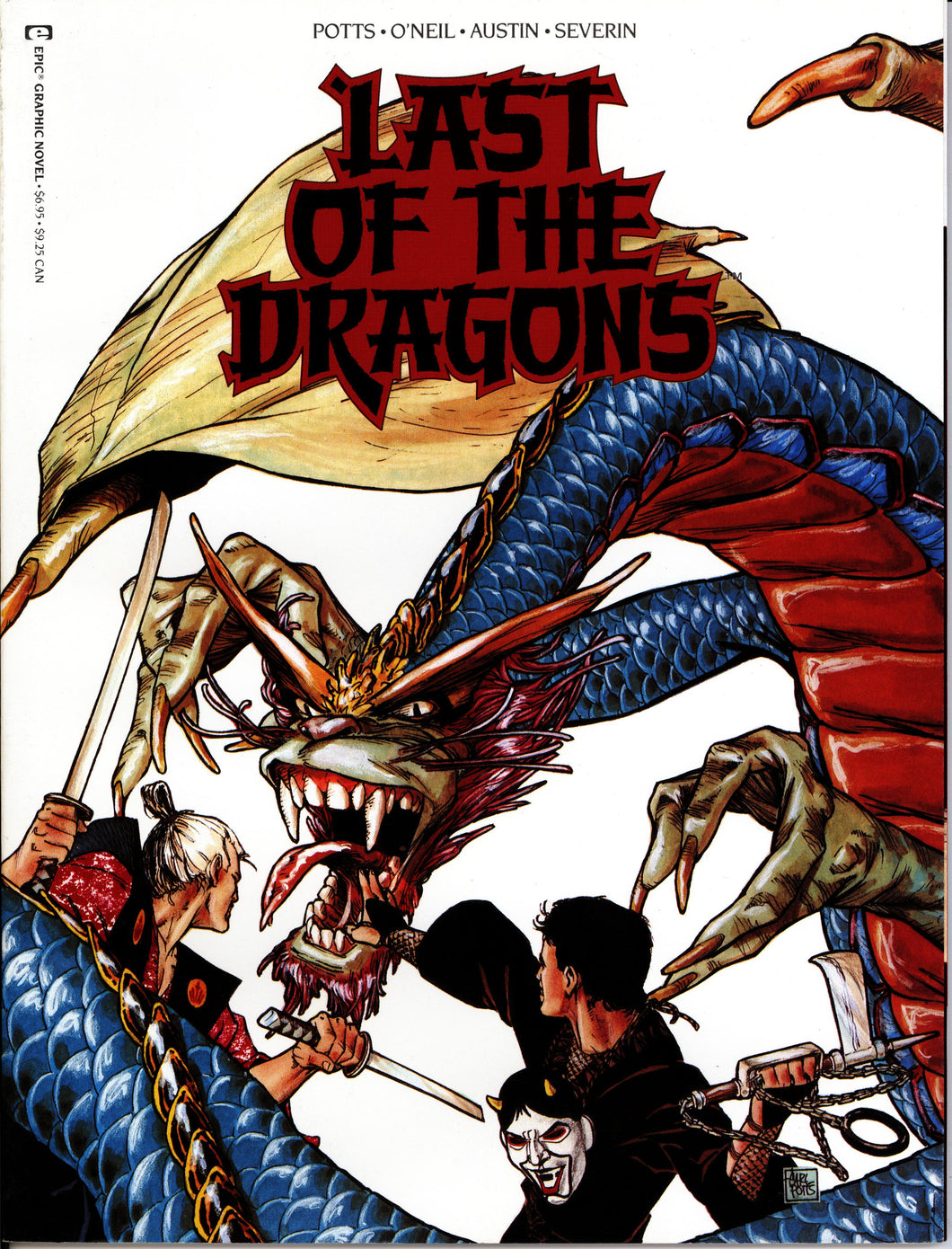 LAST OF THE DRAGONS MARVEL GRAPHIC NOVEL- VINTAGE