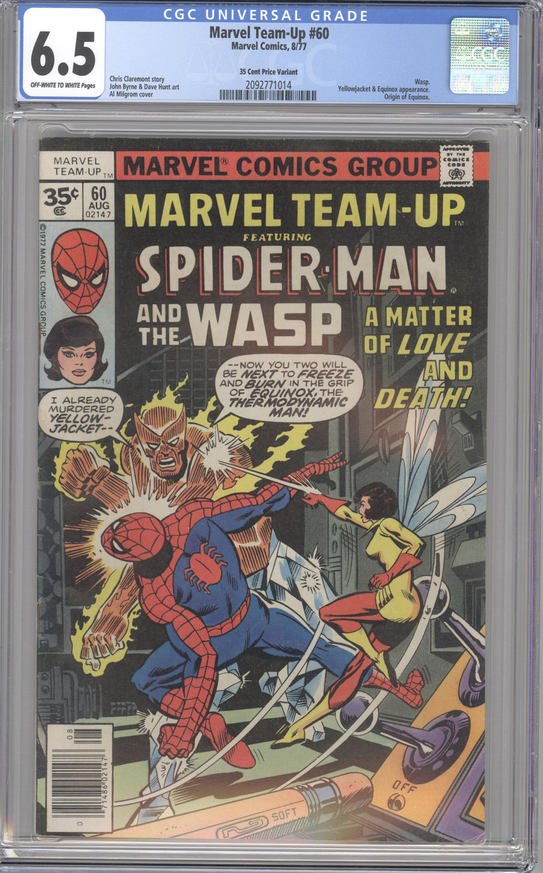 MARVEL TEAM-UP #60 CGC 6.5 F+ RARE MARVEL 35 CENT COVER PRICE VARIANT 1977