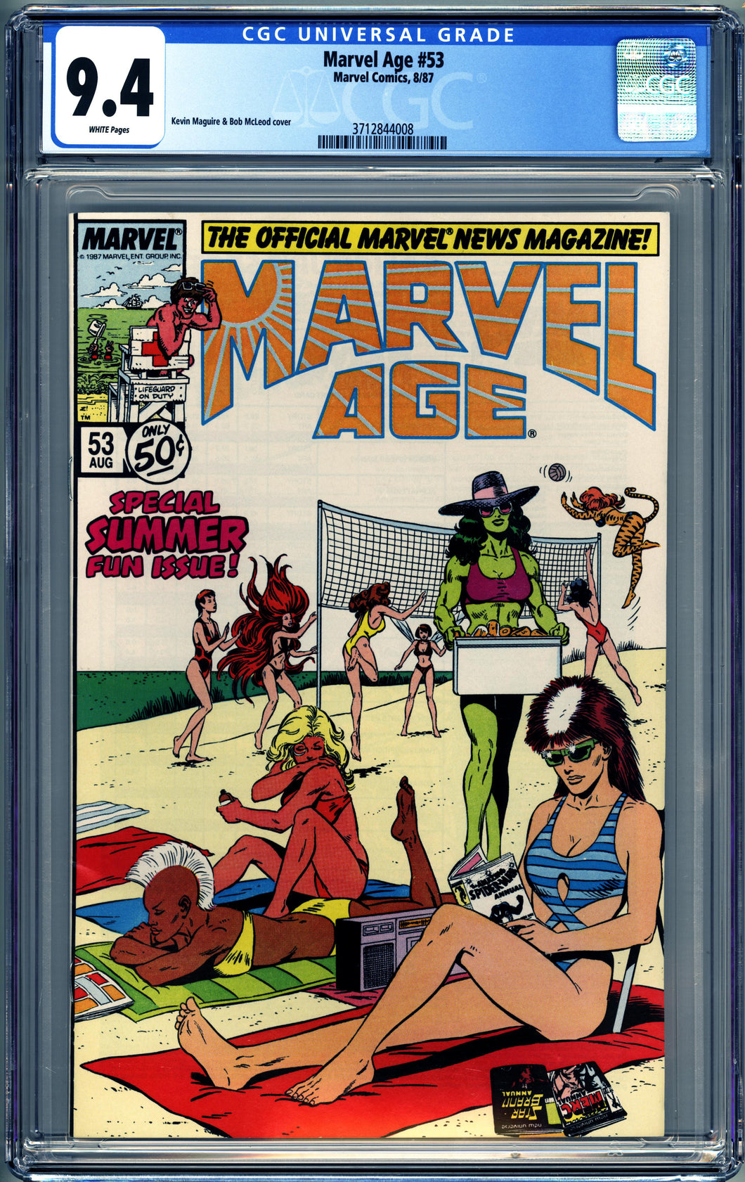 MARVEL AGE #41 (1987 Marvel) CGC GRADED 9.4 NM SWIMSUIT COVER