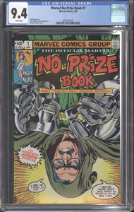 MARVEL NO-PRIZE BOOK (1982) CGC 9.4 NM WHITE PAGES Stan Lee Cover