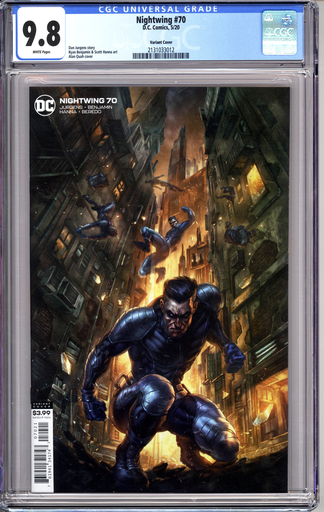 NIGHTWING #70 (2020 DC Comics) CGC 9.8 NM/M VARIANT Joker War