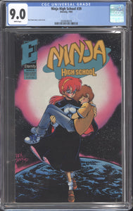 NINJA HIGH SCHOOL #39 (1993 Eternity) CGC GRADED 9.0 VF/NM Ben Dunn
