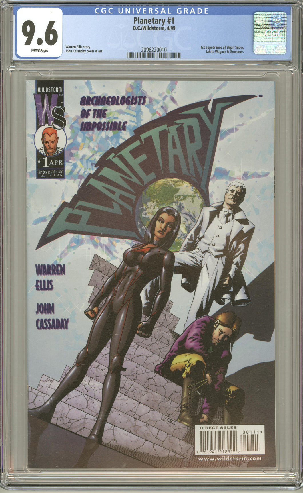 PLANETARY #1 (1999 DC Wildstorm) CGC 9.6 NM+ First Elijah Snow Appearance
