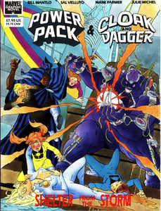 POWER PACK AND CLOAK AND DAGGER MARVEL GRAPHIC NOVEL- VINTAGE