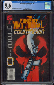 PUNISHER: WAR JOURNAL #80 (1995 Marvel) CGC 9.6 NM+ WHITE PAGES Last Issue