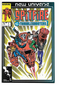 SPITFIRE AND THE TROUBLESHOOTERS #1-13 (Marvel 1986) COMPLETE SET