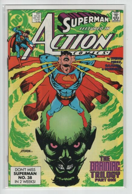 ACTION COMICS #647-649 BRAINIAC TRILOGY (DC 1989) COMPLETE SET