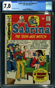 SABRINA TEENAGE WITCH #11 (1973 Archie) CGC 7.0 FN/VF