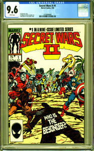 MARVEL SUPER HEROES SECRET WARS II #1 (1985 ) CGC 9.6 NM+