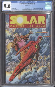 SOLAR MAN OF THE ATOM #3 (1991 Valiant) CGC GRADED 9.6 NM+ Jim Shooter