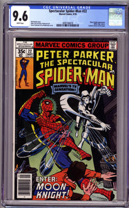 SPECTACULAR SPIDER-MAN #22 CGC 9.6 NM+ EARLY MOON KNIGHT APPEARANCE
