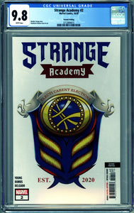 STRANGE ACADEMY #2 (2020 Marvel) CGC 9.8 NM/M SECOND PRINTING
