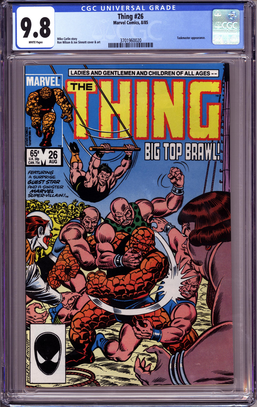 THE THING #26 CGC 9.8 NM/MT WHITE PGS EARLY TASKMASTER APPEARANCE (MARVEL COMICS 1985)