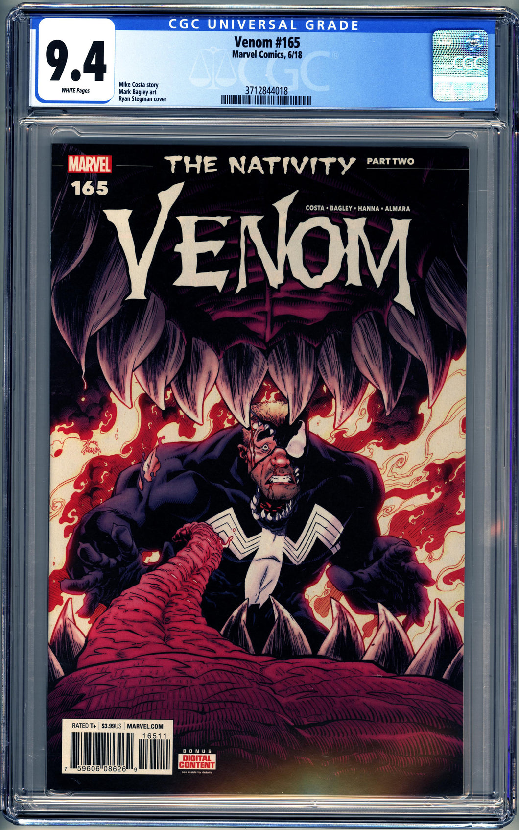VENOM #165 (2018 Marvel) CGC GRADED 9.4 NM