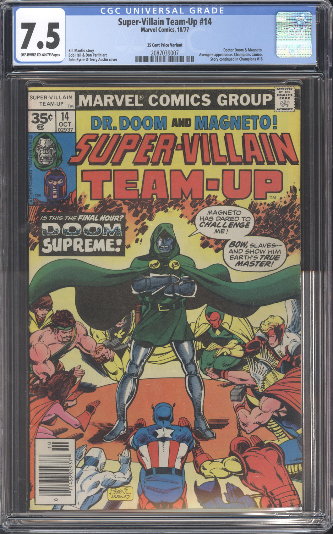 SUPER-VILLAIN TEAM-UP #14 CGC 7.5 RARE 35 CENT PRICE VARIANT DOCTOR DOOM MARVEL 1977