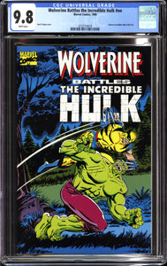 WOLVERINE BATTLES INCREDIBLE HULK (1989 Marvel) CGC 9.8 NM/M 180 181