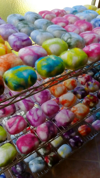 How does felted soap work?