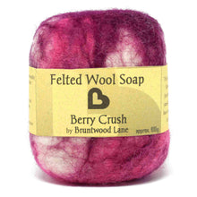 Load image into Gallery viewer, felted wool soap - berry crush