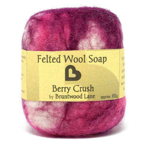 felted wool soap - berry crush