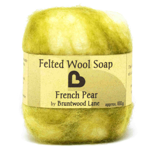 felted wool soap - french pear