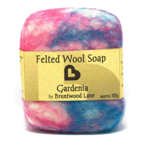 Gardenia Felted Wool Soap by Bruntwood Lane