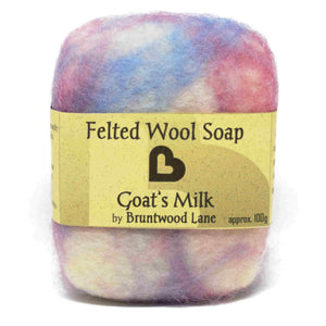 exfoliating felted wool soap - goats milk