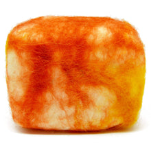 Load image into Gallery viewer, Exfoliating felted soap by Bruntwood Lane - Honeysuckle (horizontal)
