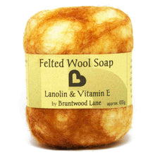 Load image into Gallery viewer, exfoliating felted wool soap - lanolin and vitamin e