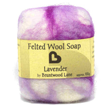 Load image into Gallery viewer, Lavender Felted Wool Soap by Bruntwood Lane