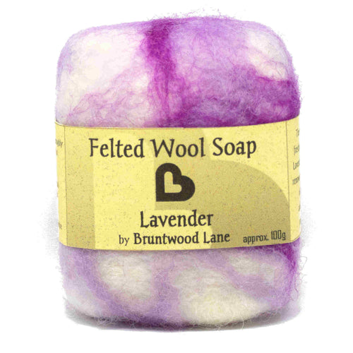 Lavender Felted Wool Soap by Bruntwood Lane