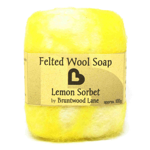 Lemon Sorbet Felted Wool Soap by Bruntwood Lane