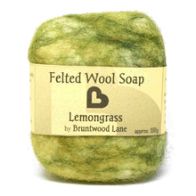 Load image into Gallery viewer, exfoliating felted wool soap - lemongrass