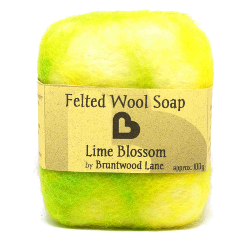 Lime Blossom Felted Wool Soap by Bruntwood Lane