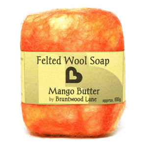 Mango Butter Felted Wool Soap by Bruntwood Lane