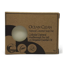 Load image into Gallery viewer, ocean clean palm oil free soap by Bruntwood Lane - naked bar colloidal oatmeal, marlborough sea salt, bergamot essential oil