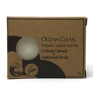 palm oil free soap by Bruntwood Lane - Ocean CLean colloidal oatmeal and Marlborough Sea Salt