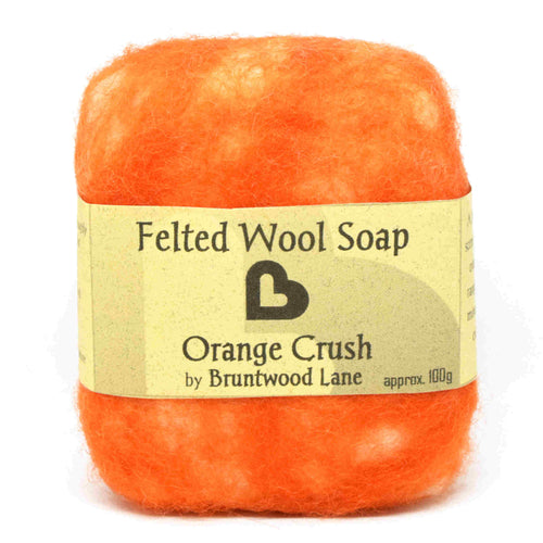 Orange Crush Felted Wool Soap by Bruntwood Lane