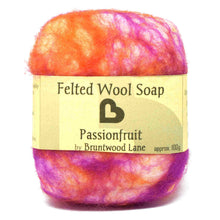 Load image into Gallery viewer, felted wool soap - passionfruit