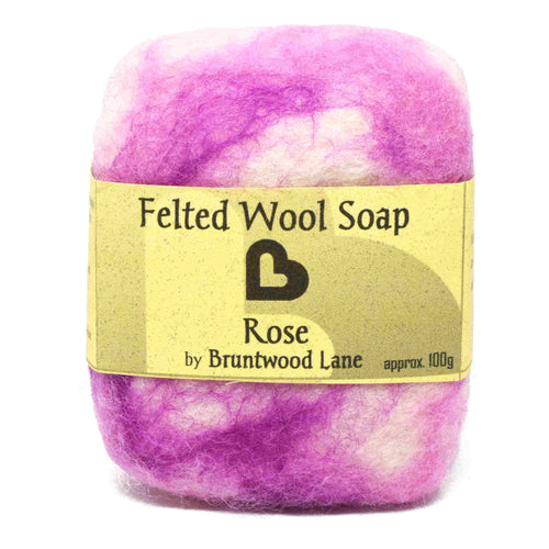 Rose Felted Wool Soap by Bruntwood Lane