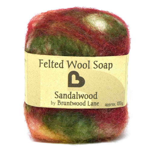 exfoliating felted soap - sandalwood