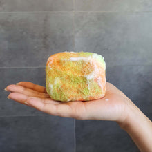 Load image into Gallery viewer, body scrubber soap - basil, lime and mandarin