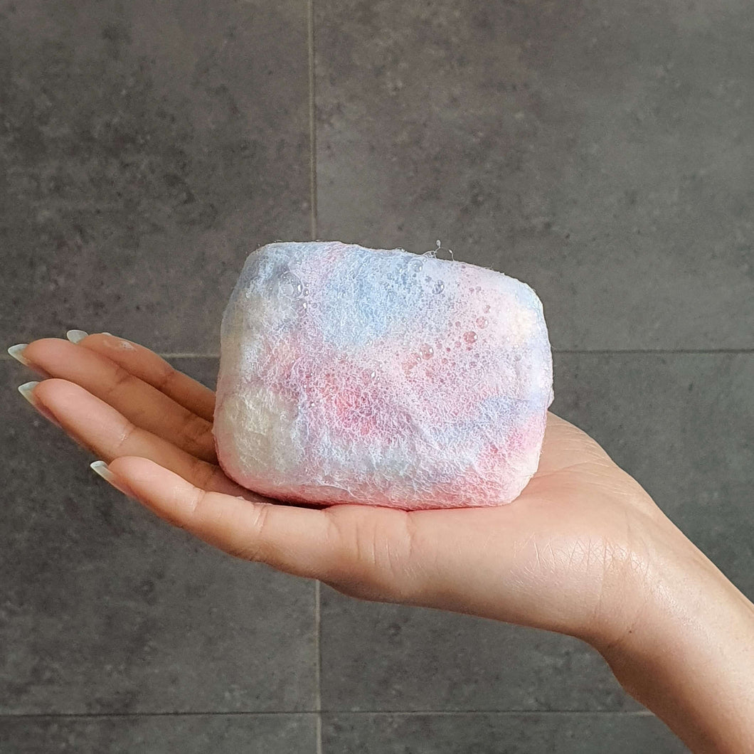 exfoliating body scrubber soap - goats milk