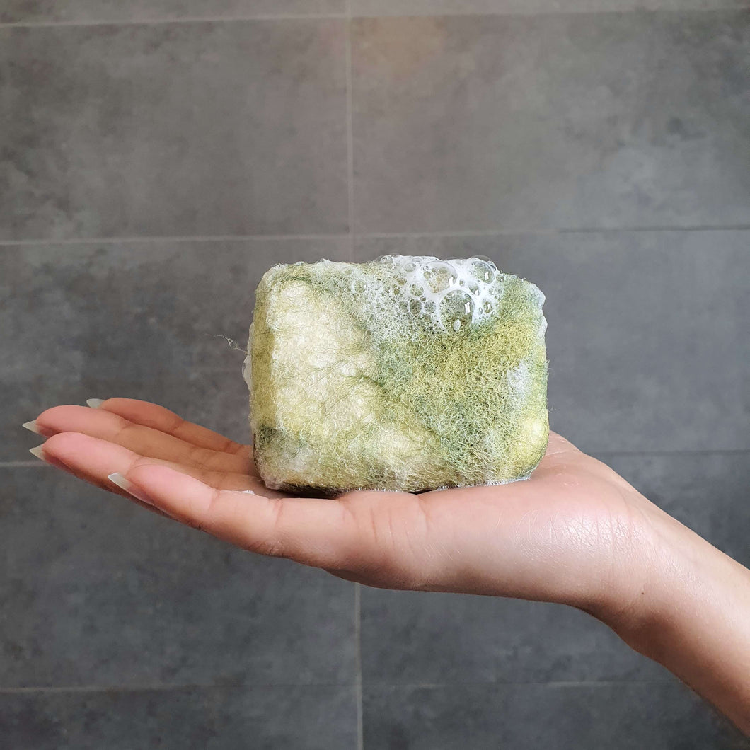 Natural exfoliating felted soap by Bruntwood Lane - Lemongrass