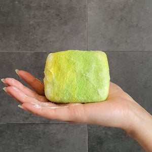 Natural exfoliating felted soap by Bruntwood Lane - Lime Blossom